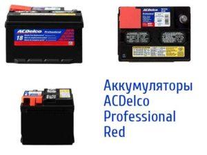 Виды батарей ACDelco