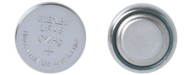 Батарейки с типоразмером LR43 - с низким сопротивлением раствора электролита и электродов