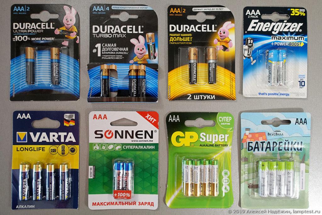 Суть работы батареек различных видов