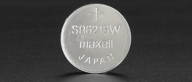 Батарейка на основе оксида серебра SR621SW, или Ag-Zn-вые элементы питания