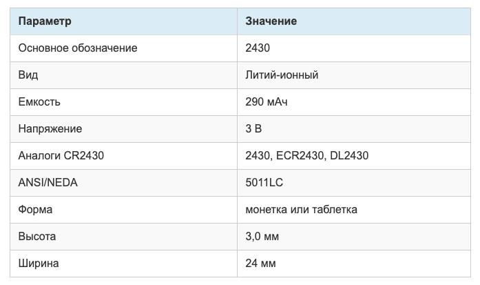 """Батарейка-""""таблетка"""" с типоразмером CR2430 - с максимальным сроком эксплуатации и большой энергоемкостью"""