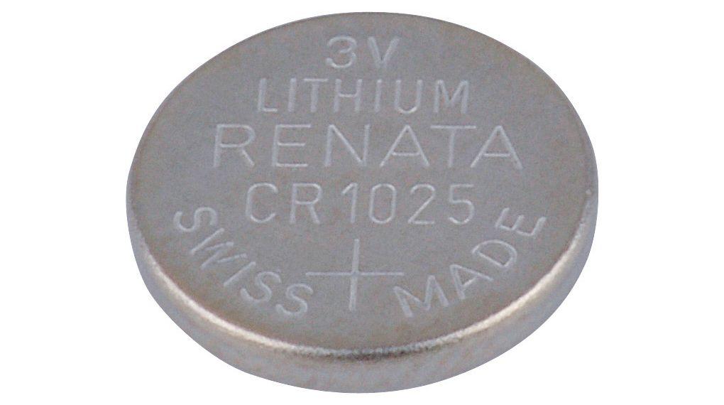 Батарейки с низким уровнем саморазряда для небольших приборов: типоразмер CR1025