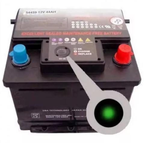 Подробно о глазке-индикаторе заряда аккумулятора