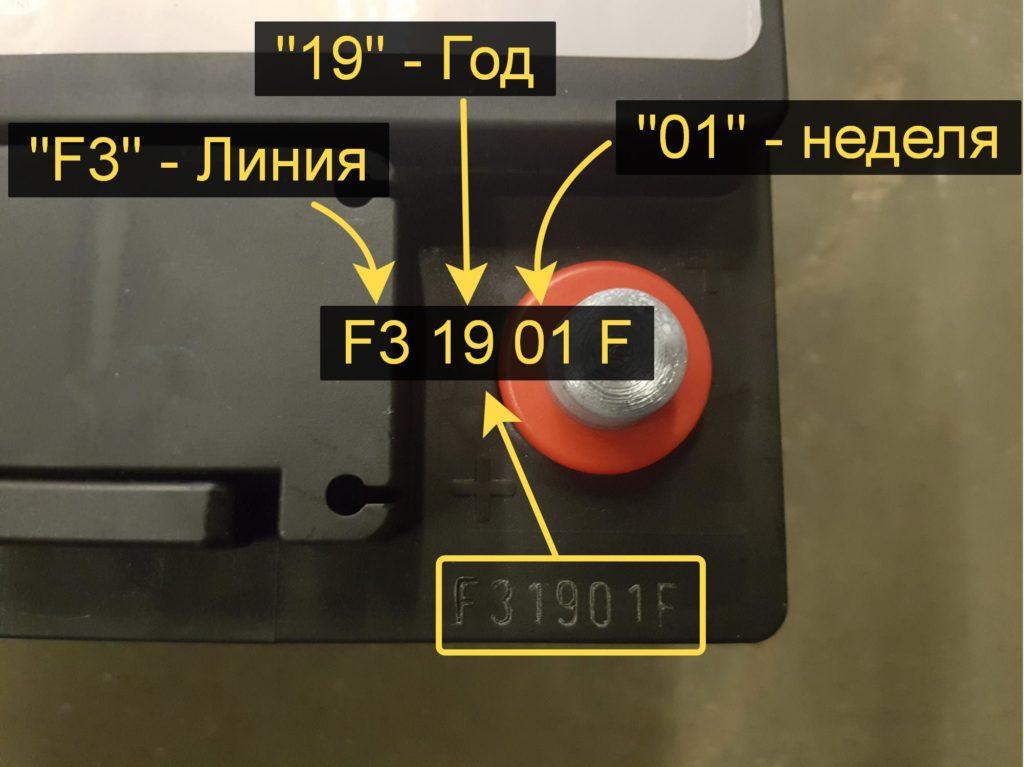 Главное о дате изготовления и расшифровке аккумулятора марки Tab
