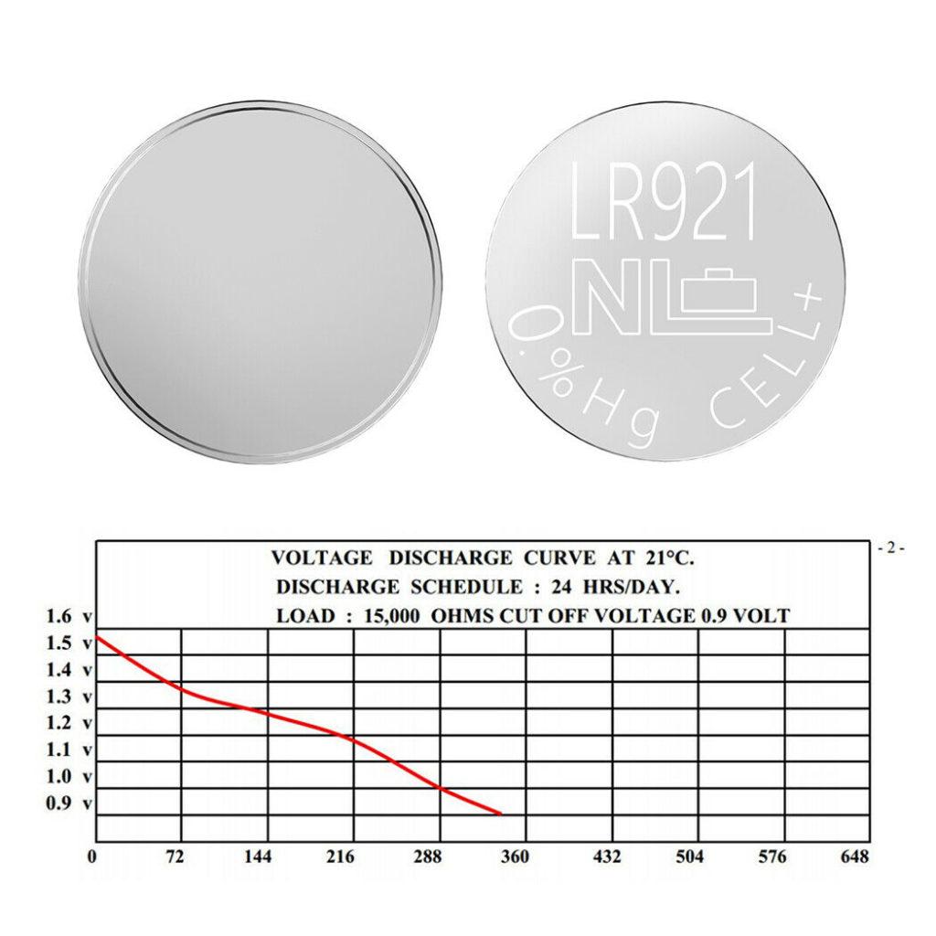 Технический обзор батарейки типа LR921 (921)